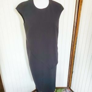 Max Mara Italy Black Sheath Dress Career Cocktail
